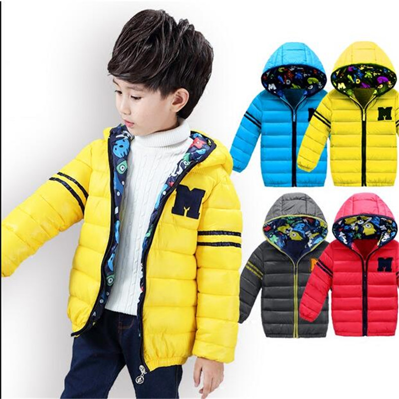 Multicolour Boys Winter Warm Hooded Jackets Children's Clothing New Baby 96% Cotton-Padded Coat Fashion Kids Brand Outerwear joobox brand men winter jacket mens casual detachable hooded cotton padded coat male thickening warm clothing black and gray