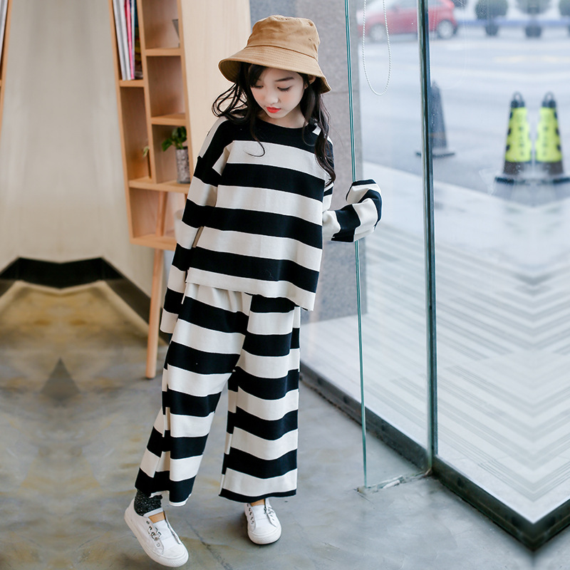 Kids Clothes For Girls Spring 2018 Teenagers 5 6 7 8 9 10 11 12 13 14 15 Years Striped Shirt + Pant Roupas Infantis Menina blouse for girls autumn clothes for teenagers 8 9 10 11 12 13 years slash neck flower girls blouse white top shirt camisa xadrez