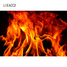 цена на Laeacco Fire Burning Flame Fireplace Wallpaper Party Decor Portrait Photography Backdrop Photo Background Photocall Photo Studio