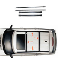 For Range rover sport 2006 2013 A Set Black Stowable Roof Rack Aluminum alloy alloy alloy roof rack  -