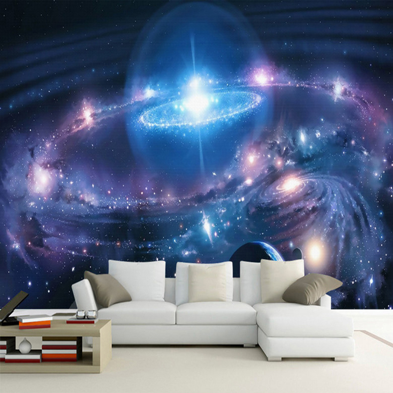Moderne Minimaliste étoilé Ciel Cosmique Galaxy 3d Murale Papier