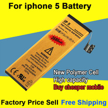 Фирменная новинка хорошее качество 1440 мАч золотой мобильный телефон Батарея для iPhone 5 Батарея Бесплатная доставка