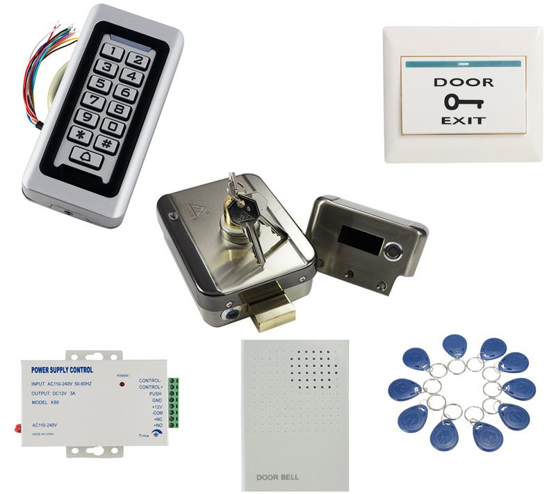 Wiegand Single Door Security Access Control System Kits Keypad Reader Mag Lock