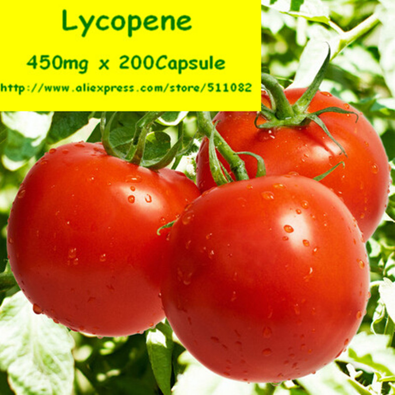 1Pack Tomato Extract 10% Lycopene Capsule 450mg* 200pcs Super Strength, Prostate Heart Immune Antioxidant free shipping  цены онлайн