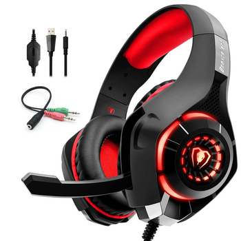 Stereo Gaming Headset Casque Deep Bass Stereo Game Headphone with Mic LED Light for PS4 Phone PC Laptop Gamer