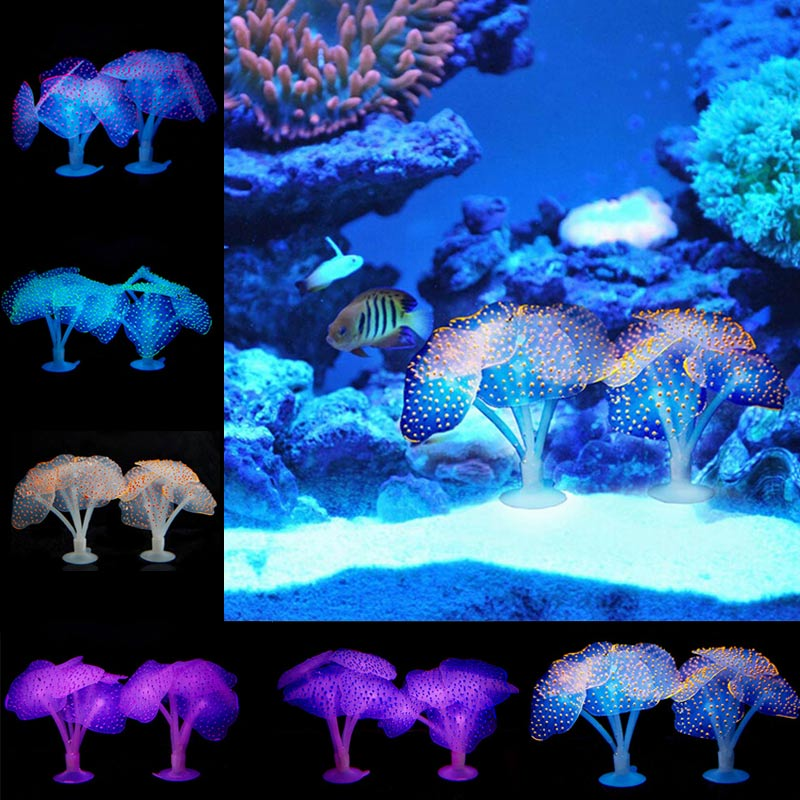Ho Fish Tank Glowing Artificial Jellyfishes Silicone Simulated Aquatic Plants Fluorescent Vivid Jellyfish Aquarium Decor MDD88