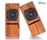 HIFI 2 Inch Full Range Labyrinth Structure Speaker Wooden 2 X 10W 4 ohm 84dB Rosewood Color 1 Pair Stereo Audio