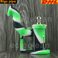 DHL 20pcs Silicone Rigs Pipe Silicone Hookah Bongs Silicone Oil Dab Rig Smoking Accessories Tobacco With