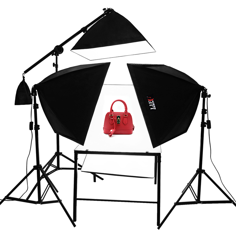 4 Light softbox shooting Table photo studio kit softbox lighting kit without light blub Adearstudio NO00DC adearstudio adearstudio vl s08led video light set dimming lighting lamp battery
