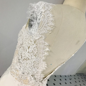 Image 3 - RSW1431 sans manches décolleté en V dos sirène dentelle ivoire et Champagne couleur robe de mariée