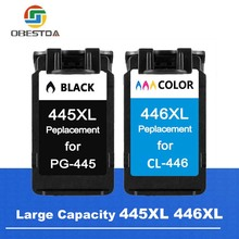 Obestda PG-445 CL-446 Ink Cartridge For Canon 445 446 PG445 CL446 For Canon Pixma iP2840 MG2440 Ink Jet Printer Free Shipping