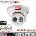 Многоязычным POE IP камера DS-2CD3345-I обновление версия от DS-2CD2335-I H.265 ONVIF инфракрасная камера жк-ip67 водонепроницаемый