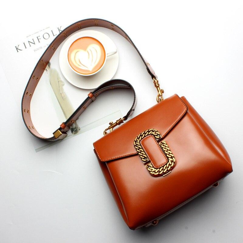 2017 New Type Wide Straps Balenciagia New Style Genuine Leather Lady Single Shoulder Satchel Handbag Small Bag