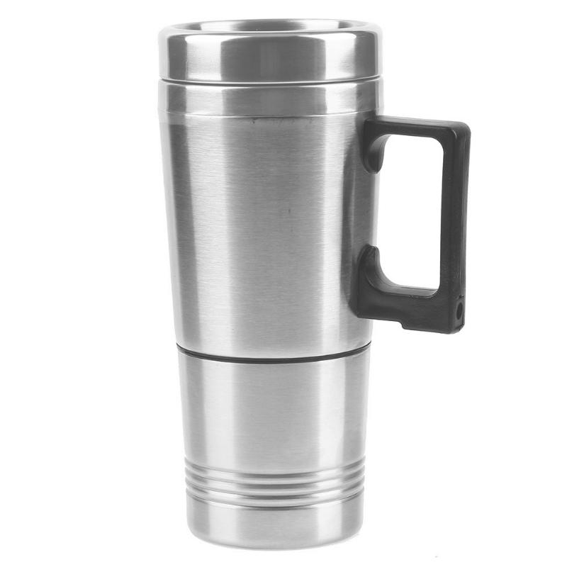 DC 12V Car Interior Mount Water Heater Cup Vacuum Insulated Travel Mug Stainless Steel Coffee Tea Water Heater Thermos Кубок