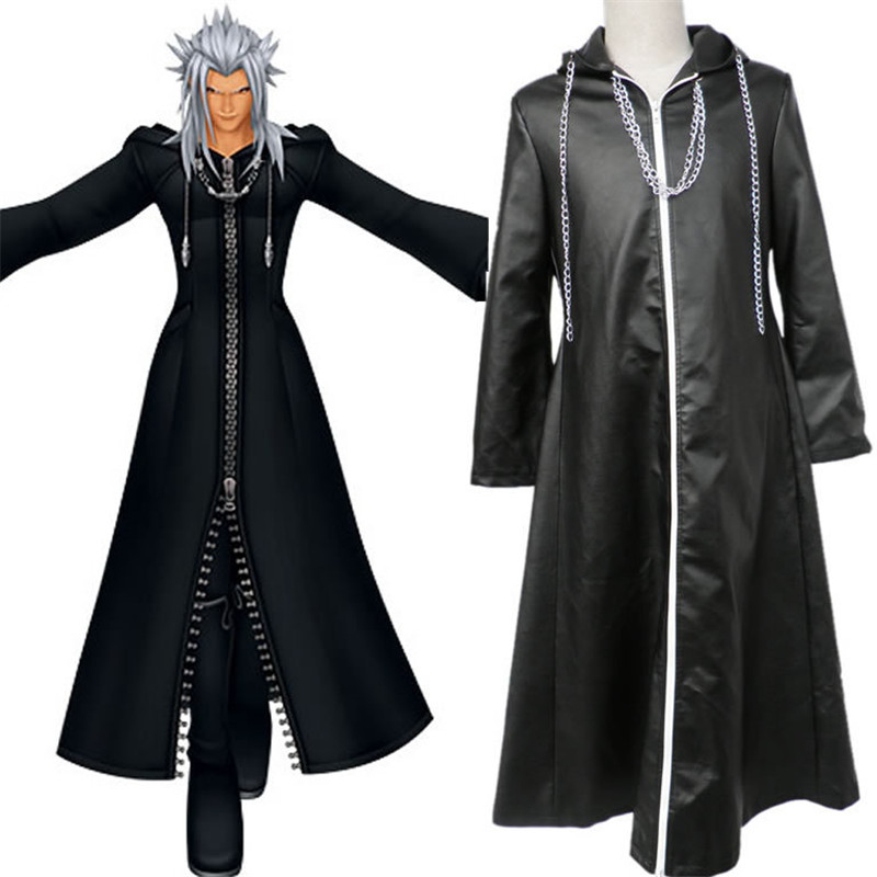 BOOCRE Anime Kingdom Hearts Cosplay Young Xehanort Organization XIII Costumes Halloween Cos Clothing Long Coat Unisex Adult