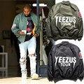 Fahion Случайный Человек Куртка Молнии С Длинным Рукавом Kanye West Yeezy Yeezus Тур Сезона Ma-1 мужская Бомбардировщик Куртка Полета И Пиджаки