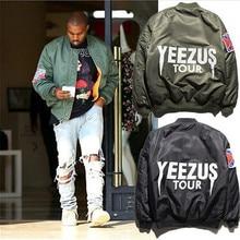 Fahion Casual Mann Jacke Reißverschluss Langarm Kanye West Yeezus Tour Yeezy Saison Ma-1 herren Bomberjacke Flug Outwear