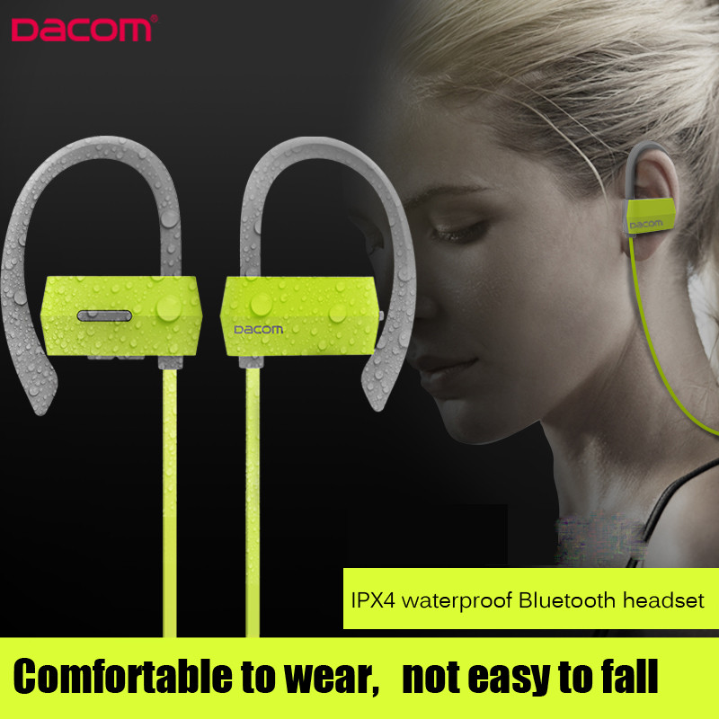 Original DACOM G18 Sports Bluetooth Headset Stereo Auriculares Wireless Headphone Running Ear Hook Waterproof Earphone With Mic new dacom carkit mini bluetooth headset wireless earphone mic with usb car charger for iphone airpods android huawei smartphone