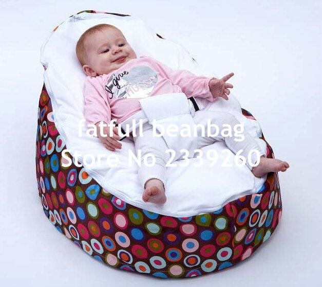 COVER ONLY, NO FILLINGS balls print baby bean bag chair