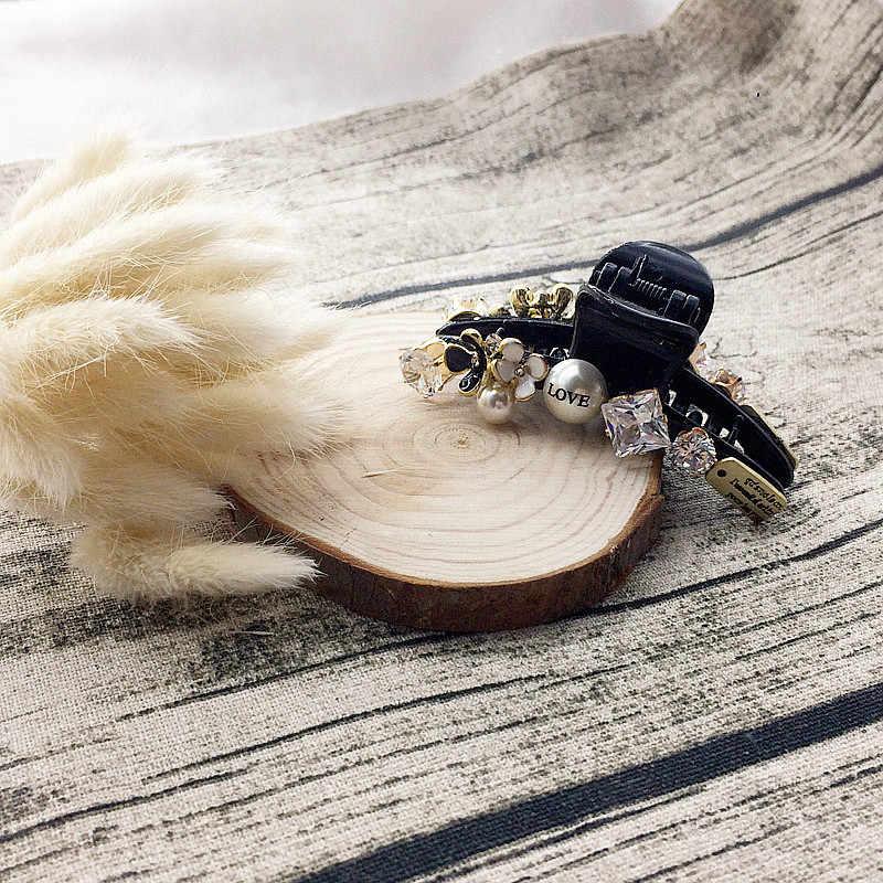 帽子カラフルなビーズヘアピンラインストーンヘアクリップ光沢のあるカニ髪爪用女性子供女の子ヘアアクセサリーオーナメント