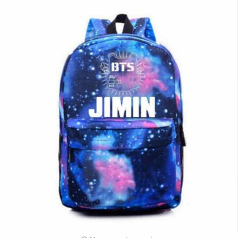 d71503619d4c ... 2018 Мода Bangtan мальчики рюкзак печать BTS рюкзак школьные сумки для  подростков водостойкий нейлоновый мужской женский ...