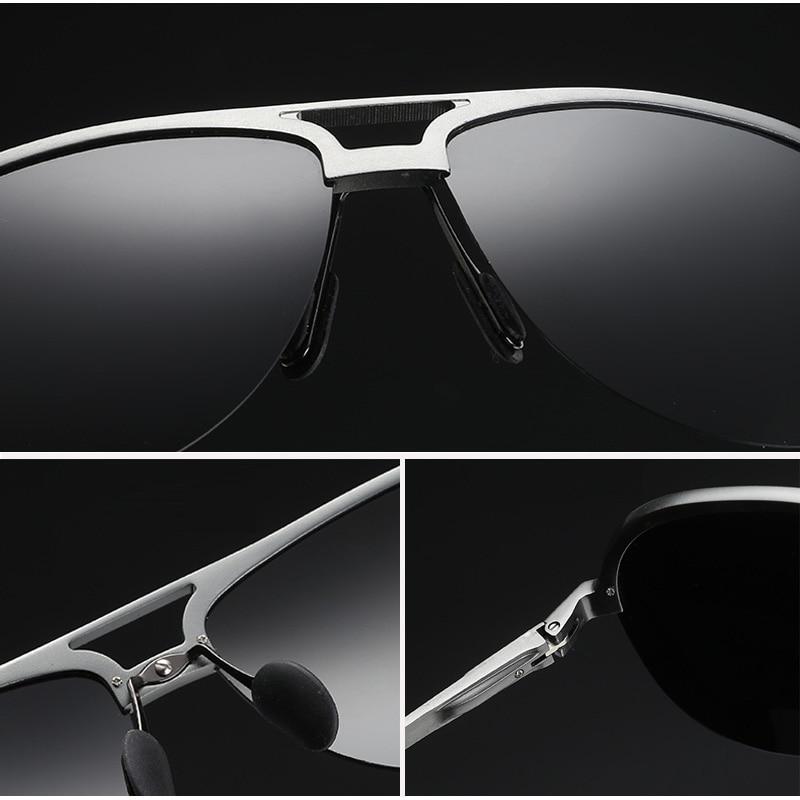 MOONCCI Retro Solglasögon Män Polariserad Aluminium Cool Mäns - Kläder tillbehör - Foto 5