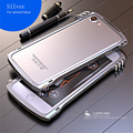 Tremoço x1 luxo alumínio bumper quadro + fibra de volta adesivo para iphone 7 4.7 polegadas