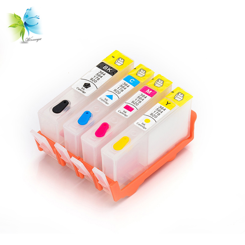 Winnerjet Empty Compatible Ink Cartridge without Chip for Hp Replacement 920 655 178 364 564 862 685 670 Cartridges