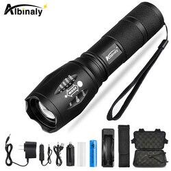 Super bright LED Lanterna Com XP-L V6 5 talão lâmpada à prova d' água LED Torch Zoomable modos de iluminação de campismo luz Use 18650