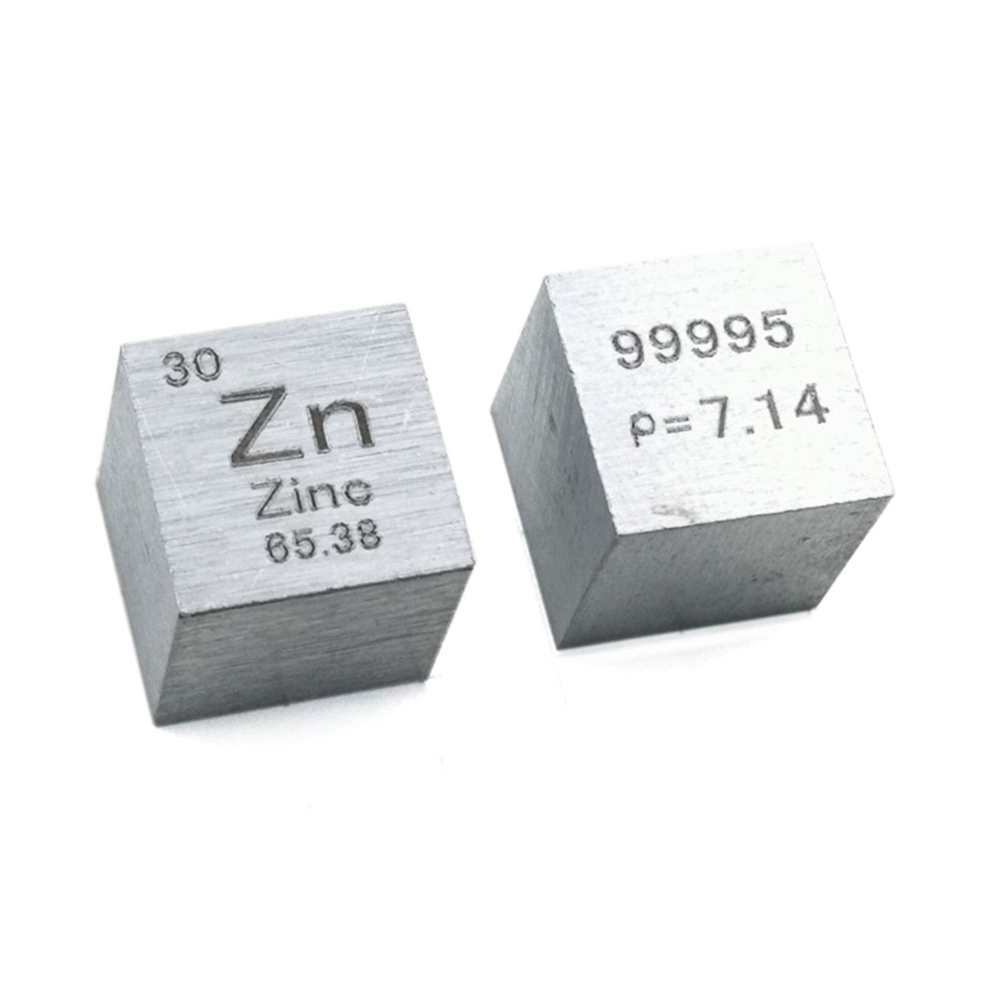 10 X 10 X 10mm Wiredrawing High Purity Zinc Cube Periodic Table Of Element Cube For Research Lab Industrial Collection(Zn≥99.9%)