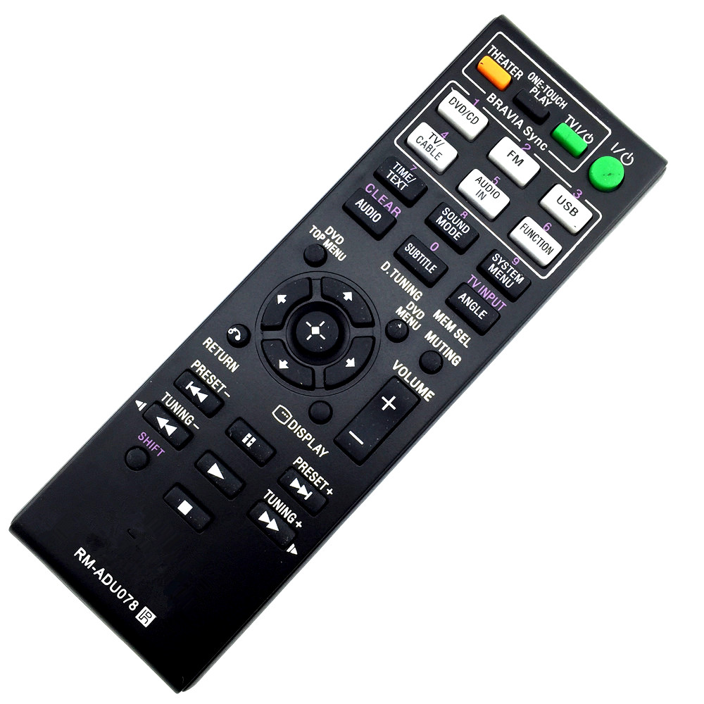 Remote Control RM-ADU078 148764111 Suitable for sony HBD-TZ135 HBD-TZ530 Home Theater AV System chunghop rm l7 multifunctional learning remote control silver