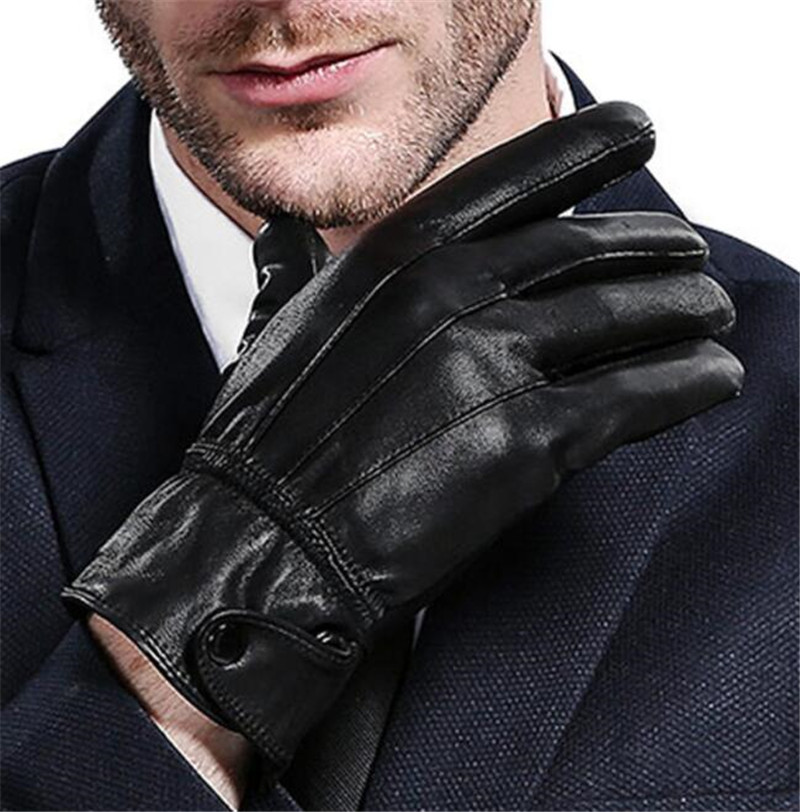 Genuine Sheepskin Motorcycle Gloves Winter Warm Windproof Protective Gloves Touch Screen Warm Fleece Lined Moto Luvas in Gloves from Automobiles Motorcycles