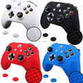 IVYQUEEN 2 in 1 for Microsoft Xbox One S Slim Controller Silicone Gel Rubber Skin Case + 2 PCS Joystick Grips Caps