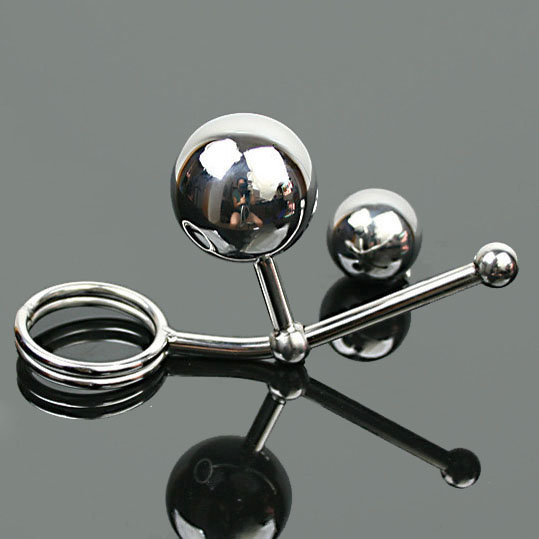 Top stainless steel adjustable anal balls plug(include 2 ball) with penis cock scrotum ring hook adult products sex toys for men wearable penis sleeve extender reusable condoms sex shop cockring penis ring cock ring adult sex toys for men for couple