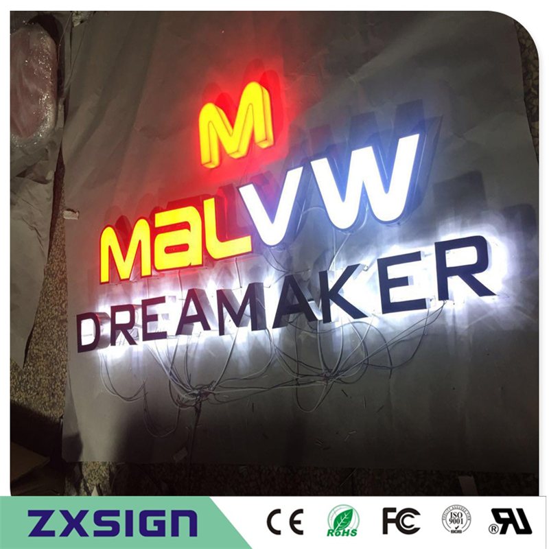 Custom Outdoor Advertising Acrylic Illuminated Letters, Shop Front Sign, Company Name Logo