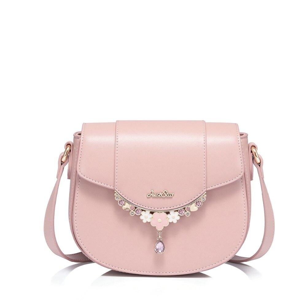 2019 新ブランドの女性の Pu レザーメッセンジャーバッグレディースファッションレジャーショルダーバッグ財布女性ピンク色サドルクロスボディバッグ  グループ上の スーツケース & バッグ からの トップハンドルバッグ の中 1
