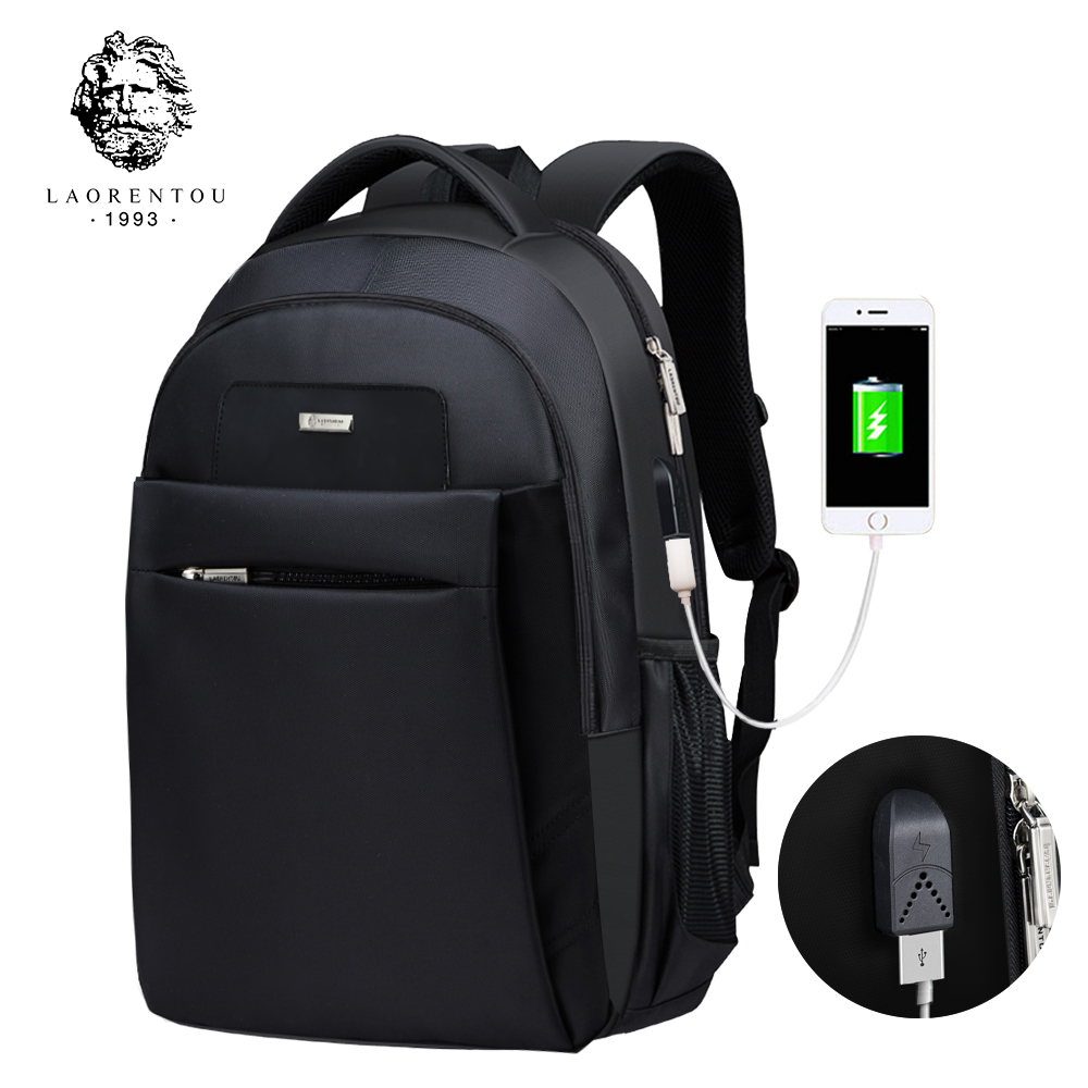 LAORENTOU Men And Women Backpack Laptop Travel Bag Multifunction Unisex School Bag Women Canvas School Backpacks for Teenagers japanese pouch small hand carry green canvas heat preservation lunch box bag for men and women shopping mama bag