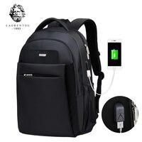 LAORENTOU Backpack Men S Travel Bags 2017 Multifunction Rucksack Waterproof Oxford Black School Backpacks For Teenagers