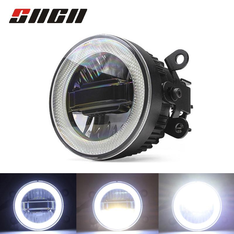 SNCN Fog Lamp LED Car Light Daytime Running Light DRL 3 in 1 Functions Auto Projector Bulb For Honda City Grace 2014 2015 2016