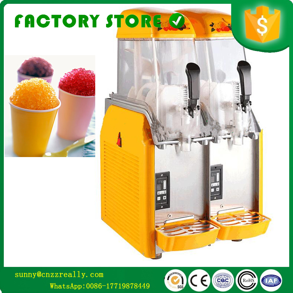 US $1288 68 |Commercial Ice Slush Machine Slush Syrup Machines For Sale  slush ice making machine with two tanks-in Food Processors from Home