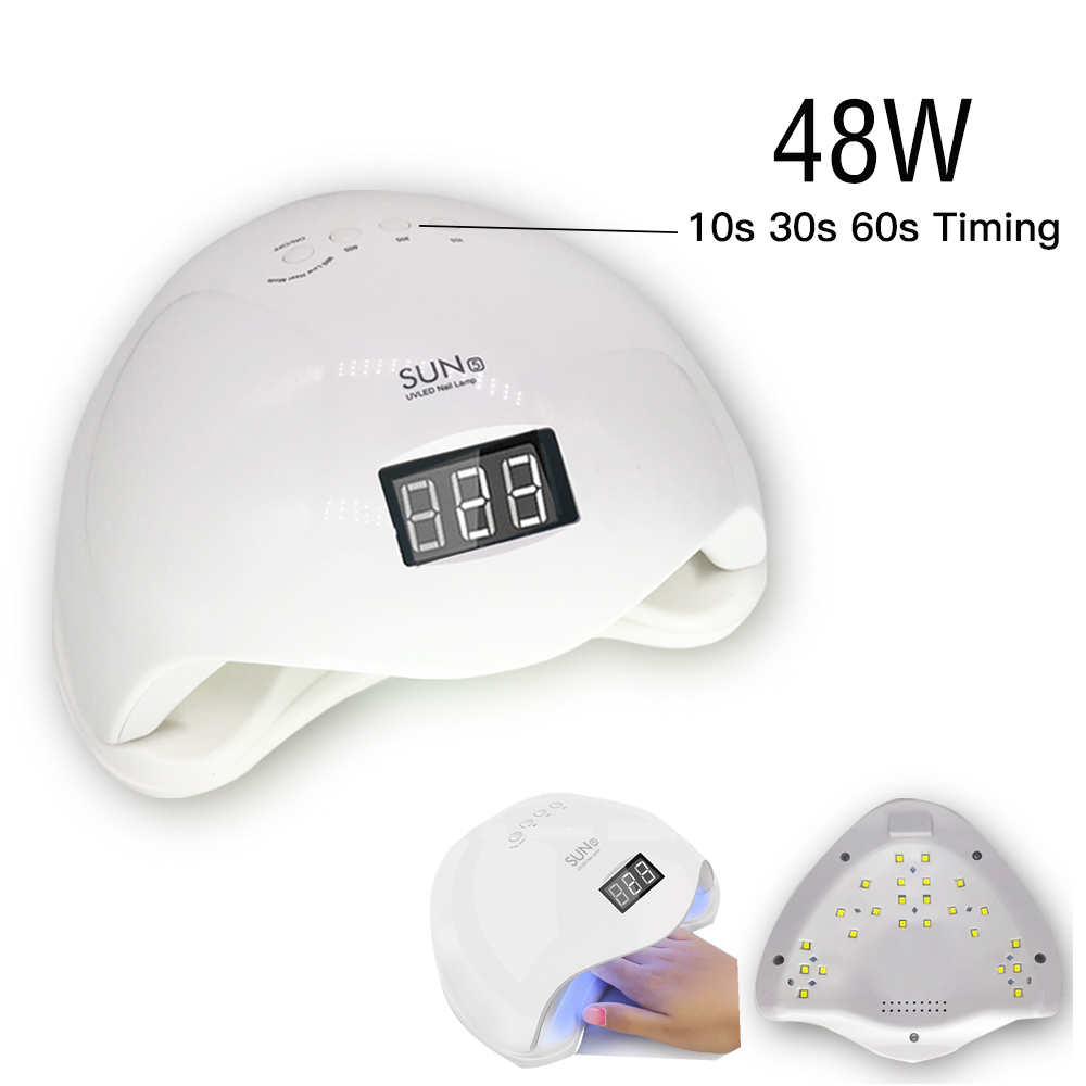 Κιτ νυχιών Ξηρό 48W UV Λάμπα LED και UV Gel - Τέχνη νυχιών - Φωτογραφία 6