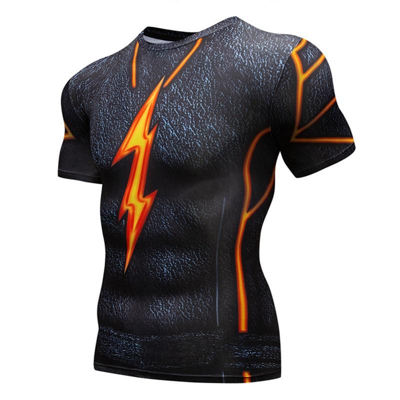 mens tshirt print 3d t shirt super heroes anime cosplay men t-shirt compression tights short sleeve shirt slim tops tee homme