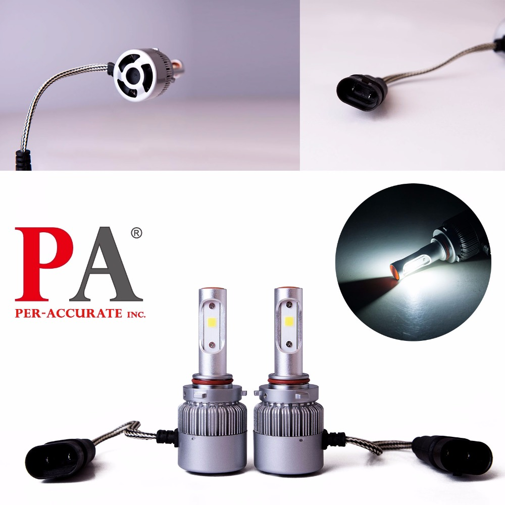 PA LED 1SET x 9005 9006 60W COB Auto LED Headlight White LED Fog Light Bulb Kit 9-32V Aluminum 2pcs set 72w 7200lm h7 cob led car headlight headlamp auto lamps led kit 6000k headlight bulb light car headlight fog light
