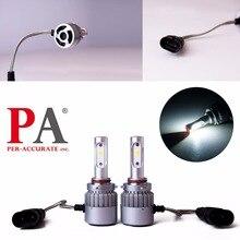 PA LED 1SET x 9005 9006 60W COB Auto LED Headlight White LED Fog Light Bulb Kit 9-32V Aluminum