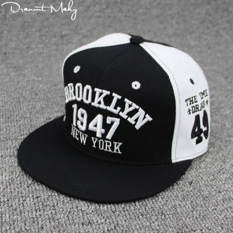 Nueva moda hombres mujeres 1947 Brooklyn letras hip hop cuero Sol SnapBack  sombrero sombreros Bordado Nueva York gorra de béisbol NY cap - Blog Store ce81c09d470
