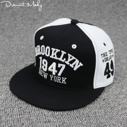 Nueva moda hombres mujeres 1947 Brooklyn letras hip hop cuero Sol SnapBack  sombrero sombreros Bordado Nueva e7a666271e6