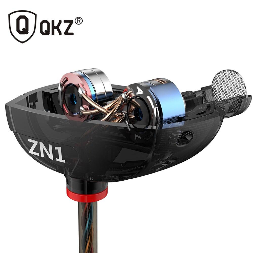 หูฟังQKZ ZN1เดิม3.5มิลลิเมตรในหูหูฟังพร้อมไมโครโฟนหูฟังสเตอริโอHIFIซูเปอร์เบสเสียงแยกโฟนเดอouvido