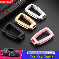 QCBXYYXH Car styling Zinc Alloy Plastic Car Key Cover Auto Case Car Key Case Perfector Decoration For Toyota 8th Camry 2017 2018