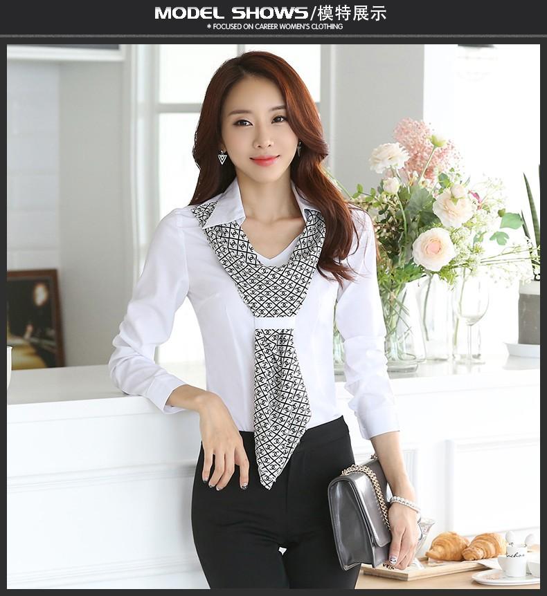 HTB1drKEJpXXXXXGXXXXq6xXFXXX8 - Women's shirt slim formal scarf collar long-sleeve blouses