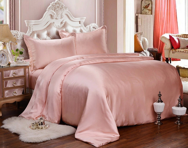 Pink Silk Bed Sheets